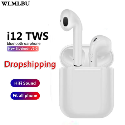 i9s i12 Tws Bluetooth Earphone Wireless Earbuds Hands Free Business Touch Key Sport Headset Bluetooth Music For Smart Phone