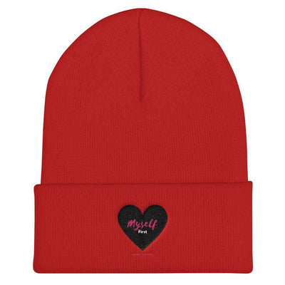 Love Myself First - Black Heart - Cuffed Beanie in 4 Colors - Dimension Dream Seekers