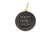 Pet ID Tag - Adopt Don't Shop - Black - Dimension Dream Seekers