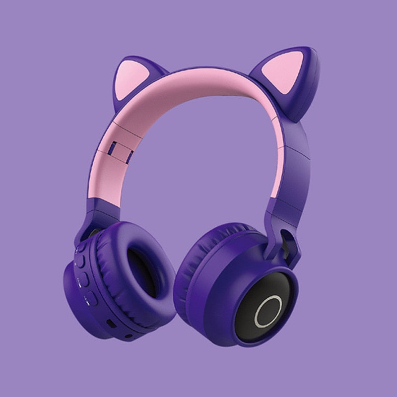 Cat Ear Bluetooth 5.0 Headphone Earphone Cordless Headphones Girls Cute Gaming Headset Wireless Earpiece Headphones Auriculares