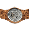 Men's Premium Self-Winding Transparent Body Zebra Wood Watches - Dimension Dream Seekers