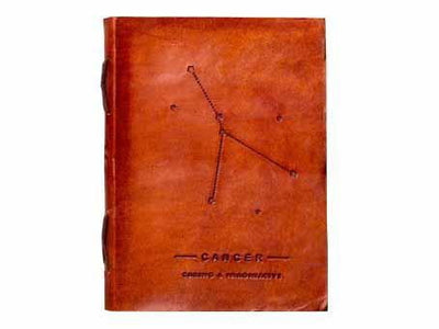 Cancer Zodiac Handmade Leather Journal - Dimension Dream Seekers