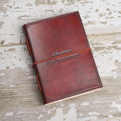 """She Persisted"" Handmade Leather Journal - Dimension Dream Seekers"
