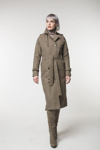 Camel trench coat / Spring - autumn / Women's coat / Collection 2018 by REVALU - Dimension Dream Seekers
