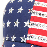 Women Men American Flag Baseball Cap Snapback Hip Hop Flat Hat