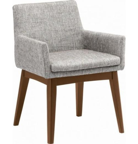 Dining Armchair - Chanel - Cocoa & Pebble | GFURN
