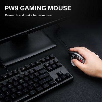 High-End Optical Professional Gaming Mouse With 7 RGB Lights USB Computer Mouse Gamer 4800dpi Game Mouse For PC LOL CS