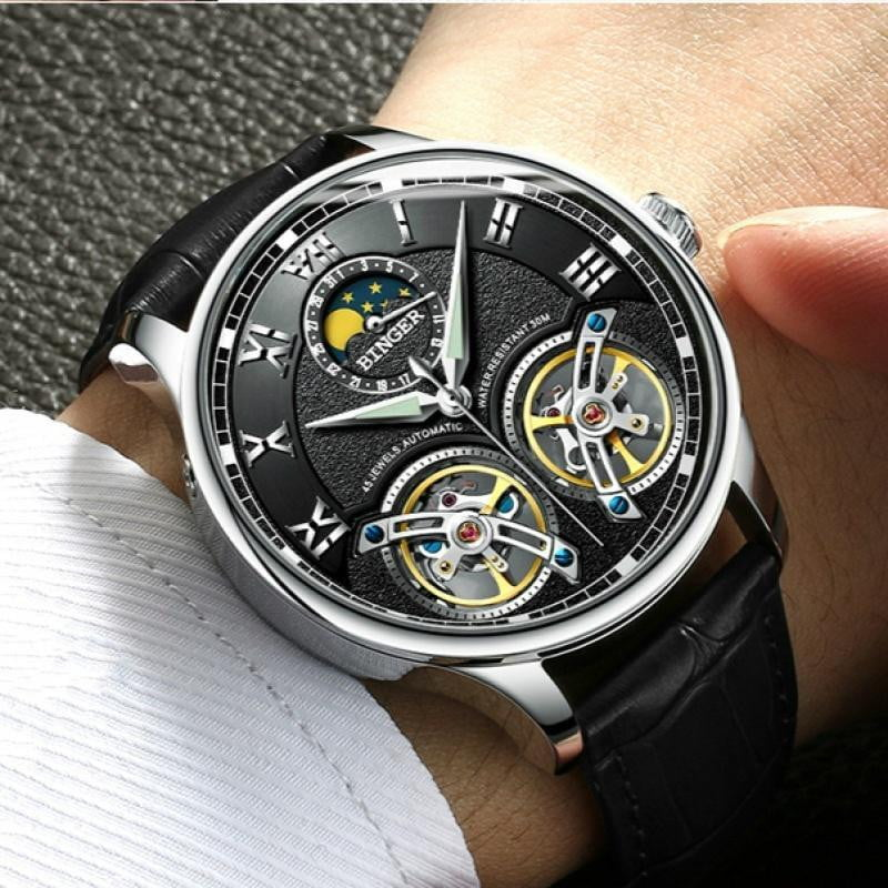 Double Tourbillon Switzerland Men's Automatic Watch - Dimension Dream Seekers
