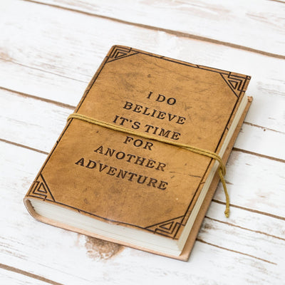 Another Adventure Blonde Handmade Leather Journal - Dimension Dream Seekers
