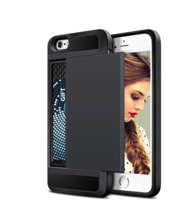 Slide Credit Card Slot Phone Case