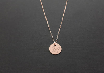 Rose Gold Initial Necklace - Dimension Dream Seekers
