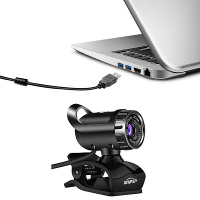 USB 480p 360 Degrees Rotary Web Camera With Microphone