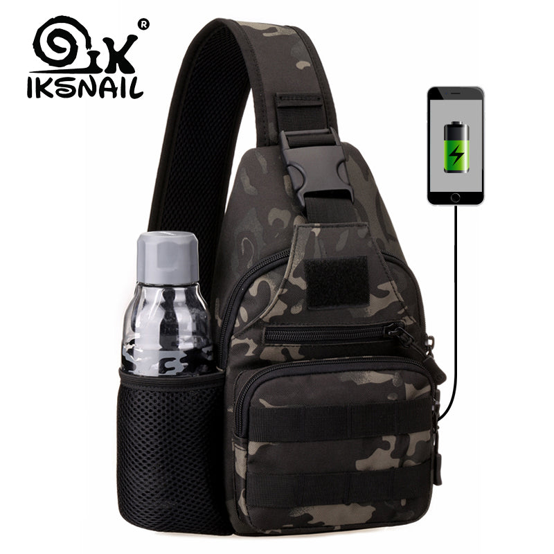 USB Single Chest Shoulder Bag