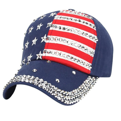 Women Men American Flag Baseball Cap Snapback Hip Hop Flat Hat - Dimension Dream Seekers