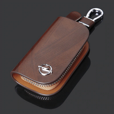 Leather Wood Texture Car Key Case - Dimension Dream Seekers