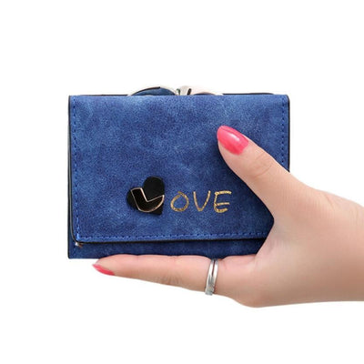New Winter Fashion Trends Pumping Multi-card Position Two Fold Wallet lady Short Zipper Holder - Dimension Dream Seekers