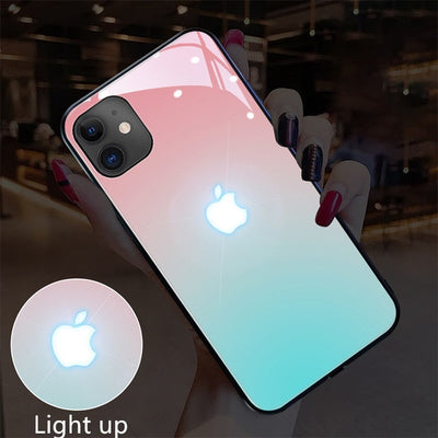 Glowing LED Call Flash Glass Case