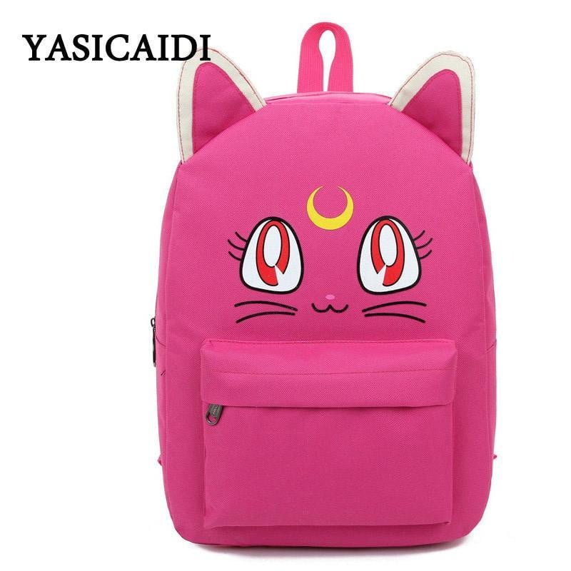 Harajuku Style Backpacks Cat Fold For Teenager Girls - Dimension Dream Seekers