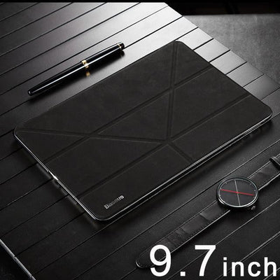 Baseus Magnetic Flip Leather Case For iPad 9.7inch Smart Sleep PU Cover For New iPad Fold Stand Protective Shell Coque Case - Dimension Dream Seekers