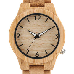 High Quality Natural Bamboo Wood Watch - Dimension Dream Seekers