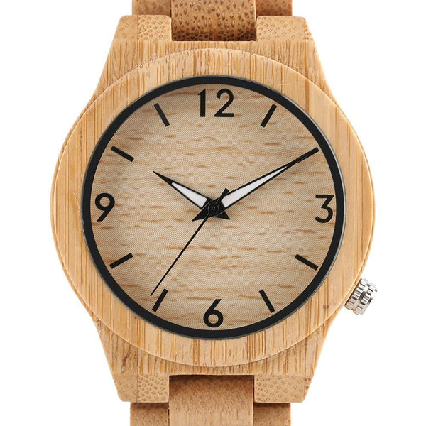 High Quality Natural Bamboo Wood Watch