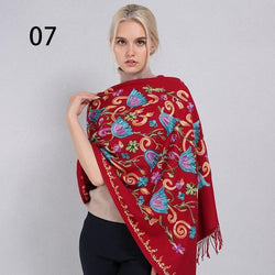 Sparsil Cashmere Embroidery Pashmina Long Scarf - Dimension Dream Seekers