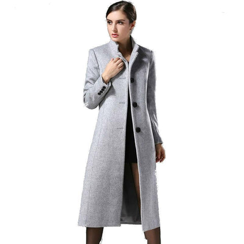 Sophisticated Cashmere Autumn Winter New Fashion Europe Classical Female Overcoat - Dimension Dream Seekers