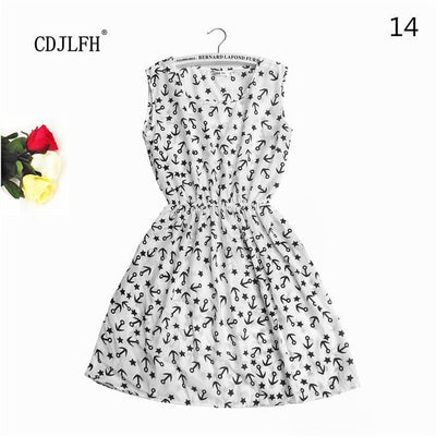 Summer Autumn New Women Vestidos Casual Bohemian Floral Sleeveless Dresses - Dimension Dream Seekers