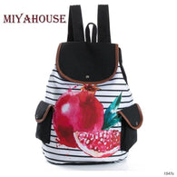 Colorful Fruit Design Backpacks - Dimension Dream Seekers