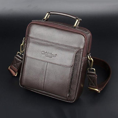 2018 Men's Genuine Leather Messenger Handbags - Dimension Dream Seekers