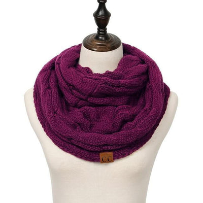 Knitted Cable Ring Cashmere Scarf - Dimension Dream Seekers
