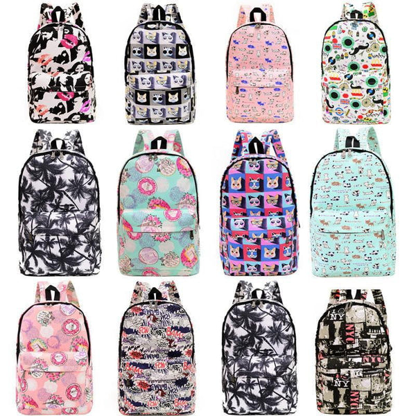 2016 Hot Women Printing Backpacks Canvas Retro Casual School Bags - Dimension Dream Seekers