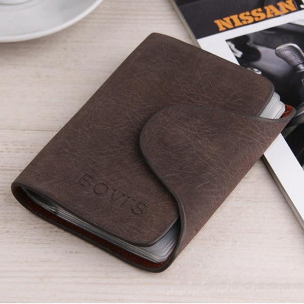 Men Vintage Credit Card Wallet Holder - Dimension Dream Seekers
