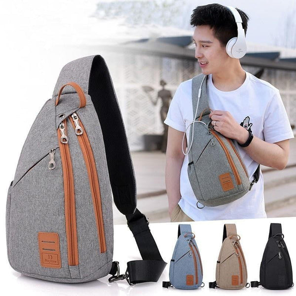 Men's Multifunction Crossbody Backpack - Dimension Dream Seekers