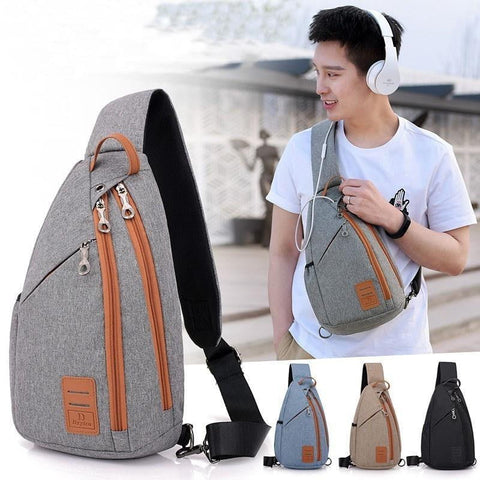 Men's Multifunction Crossbody Backpack