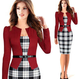 Women Dress Suit Elegant Business Suits Blazer Formal Office Suits Work Tunics - Dimension Dream Seekers