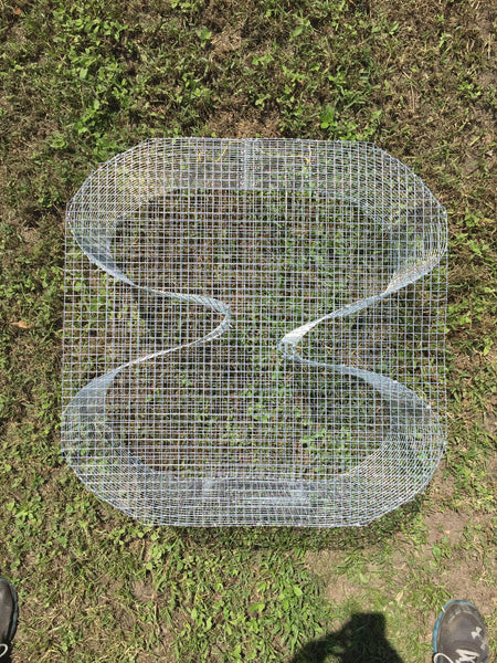 "The ""Guide's Secret"" (aka Figure8) Bait Fish Trap - Perch Trap - Pinfish Trap - Crawfish Trap"