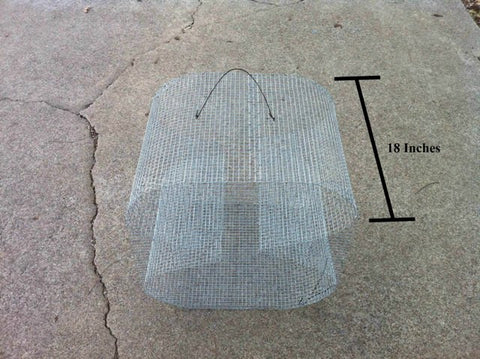 "LARGE ""Guide's Secret"" Bait Fish Trap - Perch Trap - Pinfish Trap - Crawfish Trap"