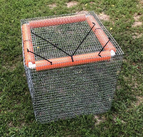 Live Fish Basket - Fish Cage - Fish Holding Pen (2x2x2 ft cube)