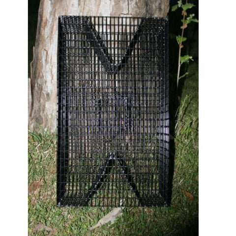 PVC Coated Rectangle Bait Fish Trap: Bream Trap – Perch Trap – Pinfish Trap – Eel Trap