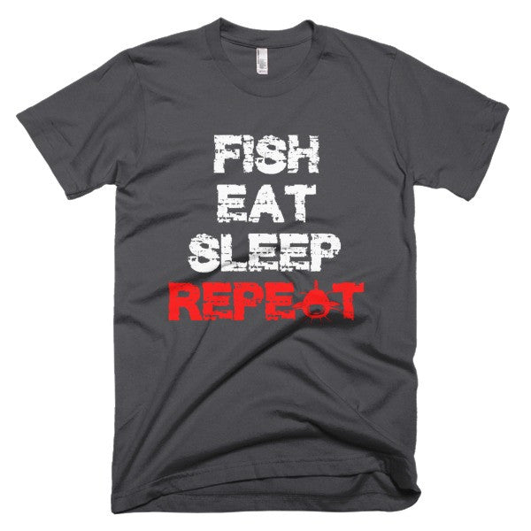 Fish Eat Sleep Short sleeve men's t-shirt