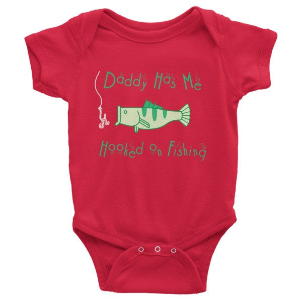 Daddy's Got Me Hooked Infant short sleeve one-piece