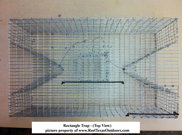 Rectangle Bait Fish Trap: Bream Trap – Perch Trap – Pinfish Trap – Eel Trap