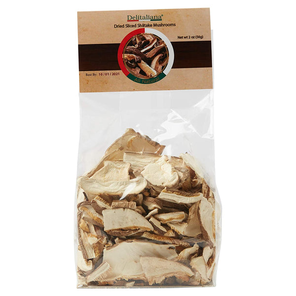 Dried Sliced Shiitake Mushrooms 2 Ounce
