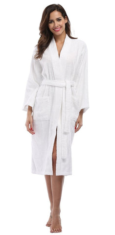 0f254b8992 Cotton terry is what you want this summer if you look for cool bathrobes  that pamper and protect your skin. As we all know