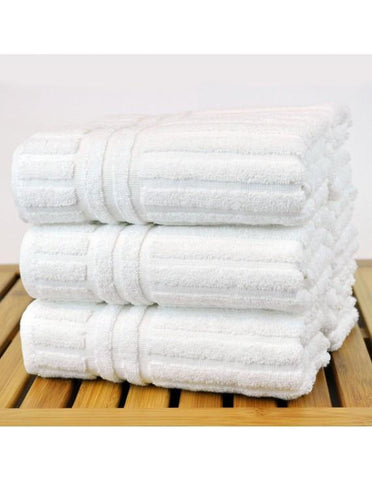 set of 6 white hand towels