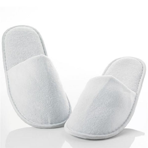white spa slippers