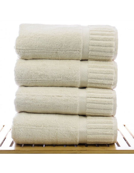 100% Turkish Cotton Bulk Bath Towels  - Beige - Set of 4, Bath Towels