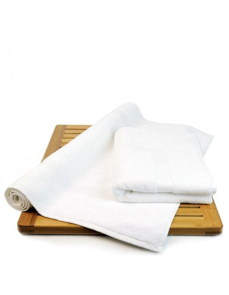 100% Turkish Cotton Bulk Best Bath Mats - White - Set of 2, Bath Towels