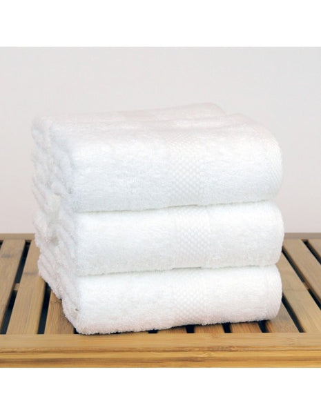 5-Star Hotel/Resort Quality Plush Cotton Hand Towels - White - Set of 6, Hand Towels